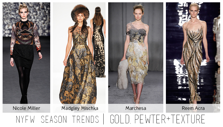 NYFW Gold Pewter Trend