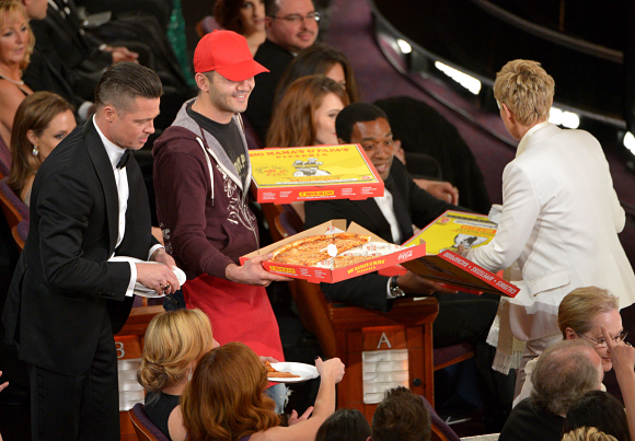 Pizza at the Oscars