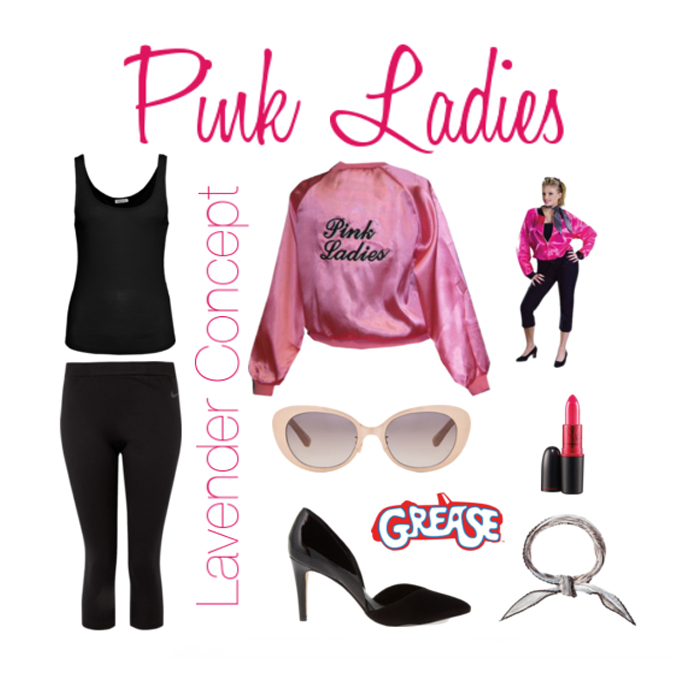 Pink Ladies DIY costume