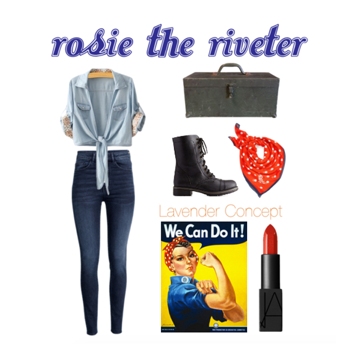 Rosie the Riveter DIY costume